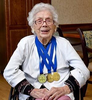 Medalist Doris Woodring.
