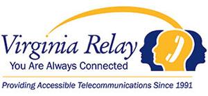 Virginia Relay logo.